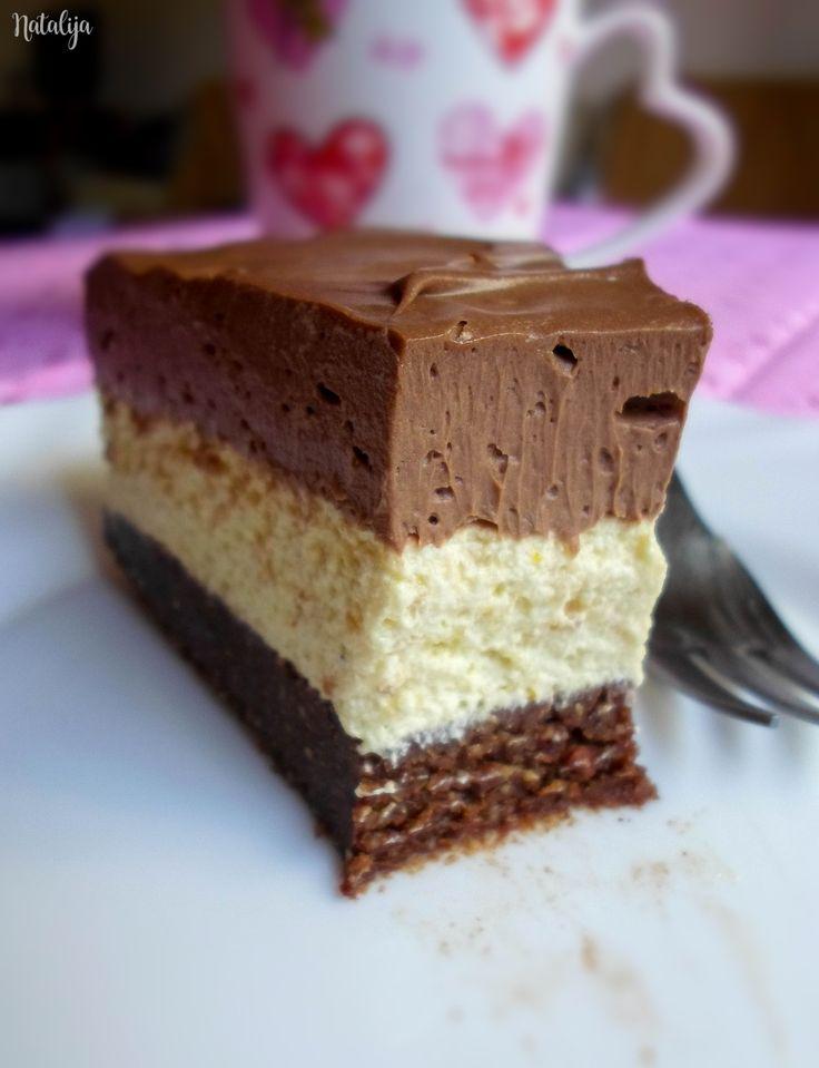 Ledena nugat torta sa lešnjacima - bez pečenja