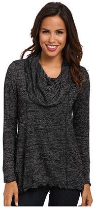 Miraclebody Jeans Chloe Seamed Cowl Neck Sweater w/ Body-Shaping Inner Shell - Shop for women's Sweater - Black Sweater