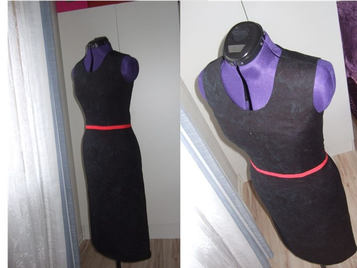 Black Mix Tube Dress