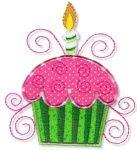 cute birthday cupcake