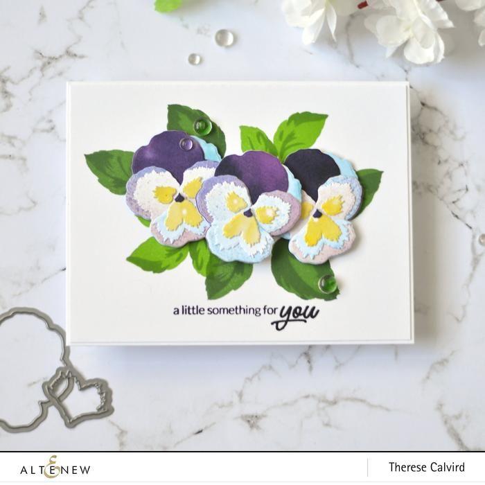 Pleasant Pansy 3d Die Set In 2020 Pansies Altenew Flower Cards