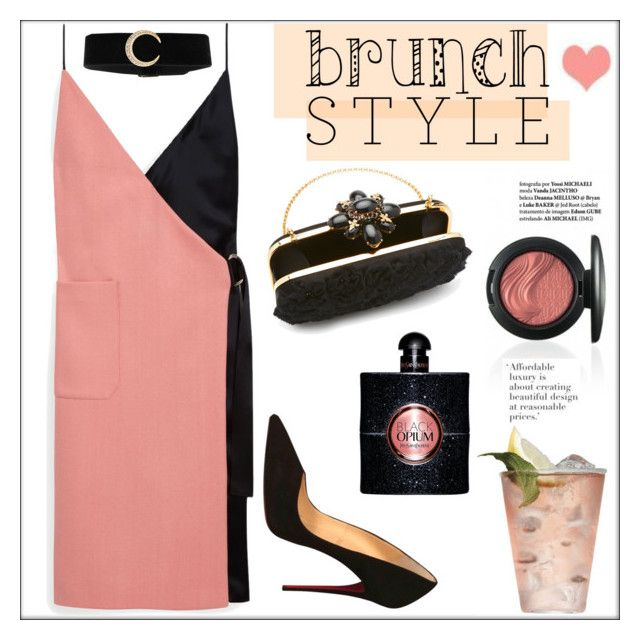 """""""Mother's Day Brunch Goals"""" by pat912 ❤ liked on Polyvore featuring Oscar de la Renta, CENA, Mulberry, Christian Louboutin, Yves Saint Laurent, polyvoreeditorial and brunchgoals"""