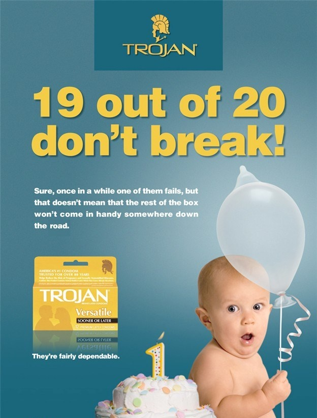 an analysis of the advertisement for trojan condoms Here's an interesting observation - almost all famous advertising slogans can be used for a condom brand as well to prove it, los angeles-based designer max wright came up with these.