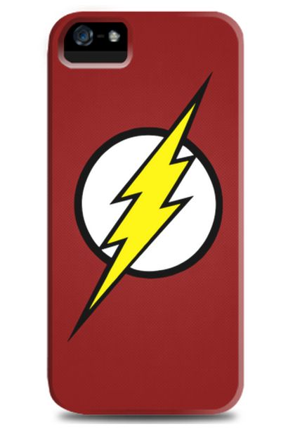 Flash iPhone 5 Case in red. Also available for BlackBerry and Samsung smartphones. Designed by LightB Shop for Tees. http://zocko.it/LB6q9