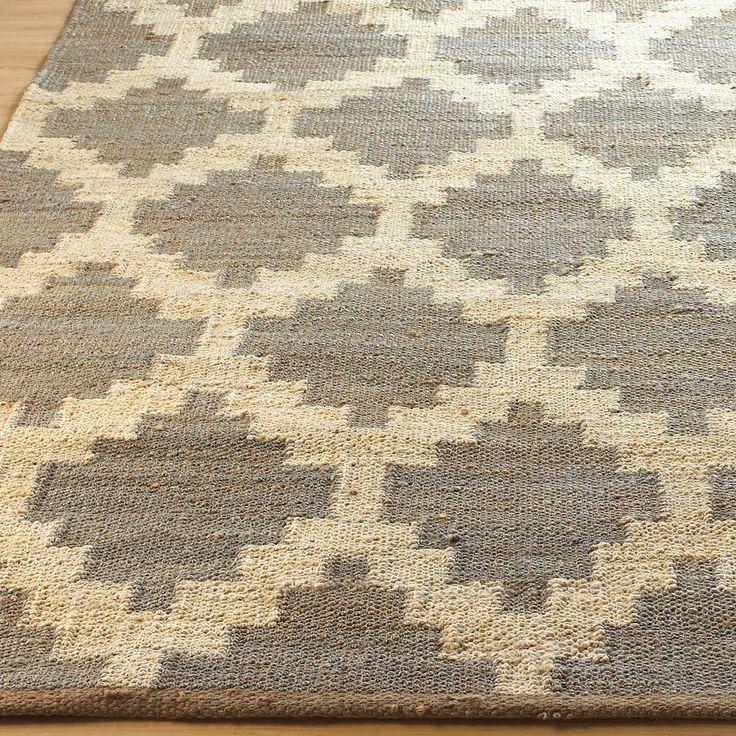 Santa Fe Geometric Chunky Woven Hemp Rug: 2 Colors Natural Woven Hemp With  Chunky Texture
