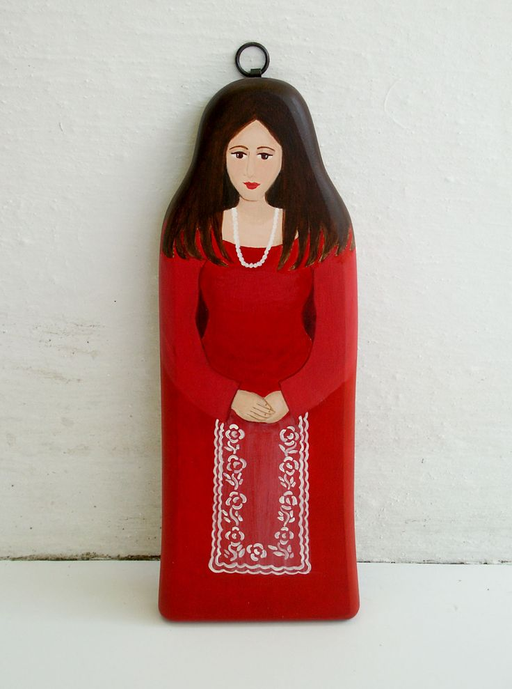 Art Wall Female figure modern red dress