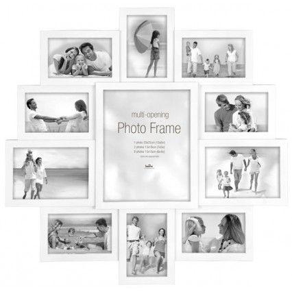 Maggiore XXI Multi Photo Frame - large white multi aperture frame
