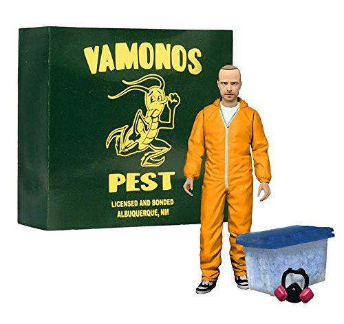 """Mezco: Breaking Bad - Jesse Pinkman Orange Hazmat Suit EE Exclsive 6"""" Action Fig"""