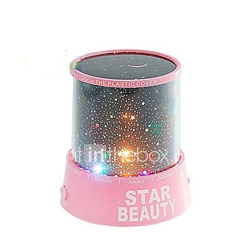 Starry Night Sky Projector Colorful LED Night Light (Random Color,Powered by 3 AA Battery) 2017 - $5.59