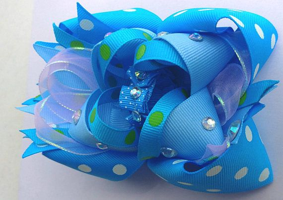 Check out this item in my Etsy shop OTT stacked boutique hairbow, boutique bows, hairbow, blue bow, hair bow for sale https://www.etsy.com/listing/534184797/ott-stacked-boutique-hairbow-55-x-4