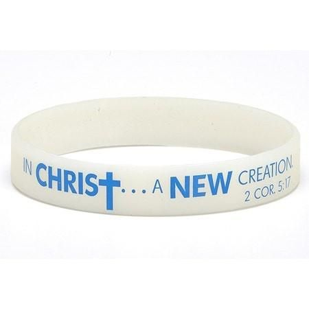 Spring To life, In Christ, A New Creation Color Changing Silicone Bracelet