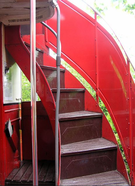 AEC London Transport bus stairs