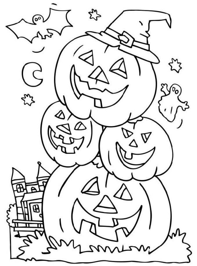 63 besten Halloween Coloring Pages Bilder auf Pinterest | Halloween ...
