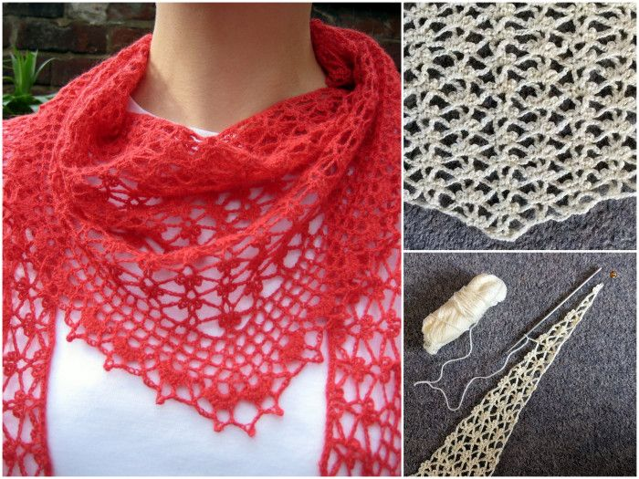 Winter Buds Scarf and Summer Sprigs Lace Scarf – free crochet patterns