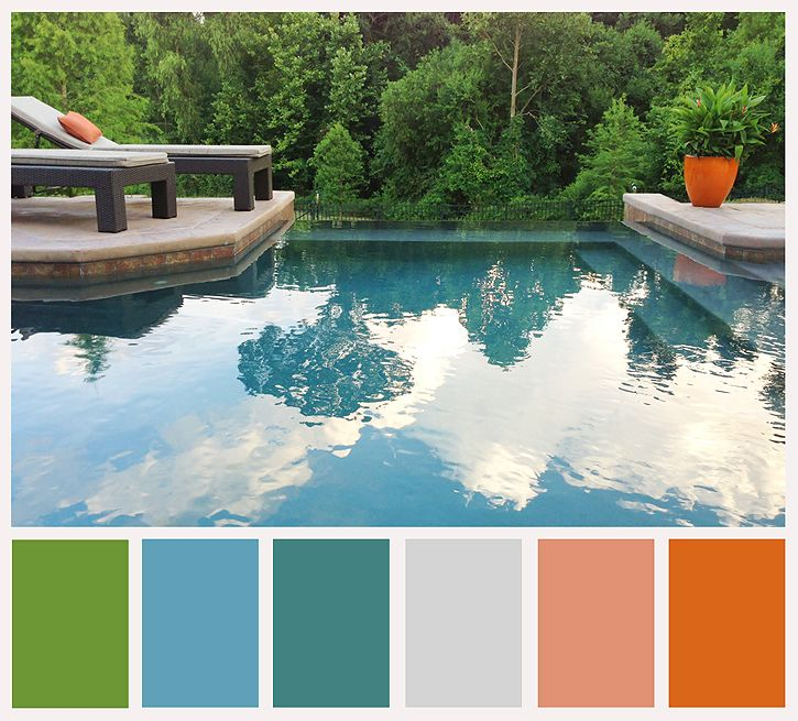 deb duty {photography + scrapbooking}: color palette: pool reflections