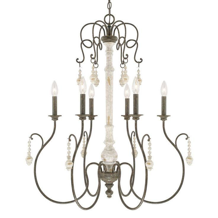 Capital Lighting Vineyard Collection 6-light French Country Chandelier, Brown (Metal)