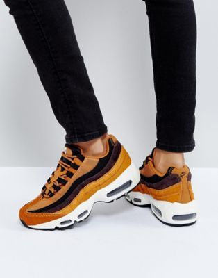 best website 43b51 81b6c Nike Air Max 95 Lx Trainers In Tan And Black