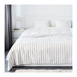 """IKEA - SOMMAR 2016, Bedspread, 98x98 """", , The thicker colored threads woven into the cotton fabric give this bedspread a lively texture."""