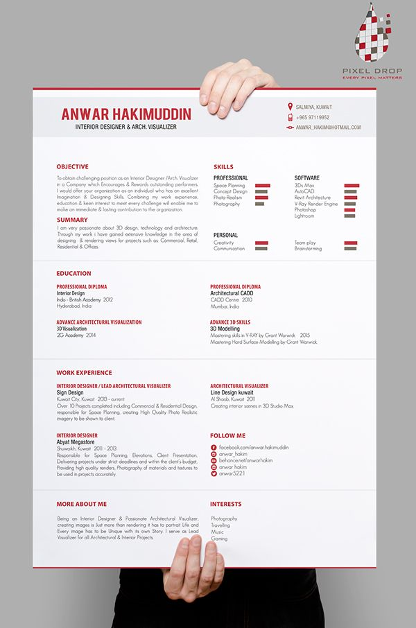 57 best Portfolios CV images on Pinterest Creative resume - resume portfolio
