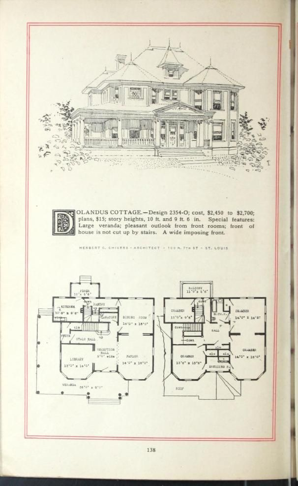 Artistic homes herbert c chivers architect 1800 39 s for Victorian era house plans