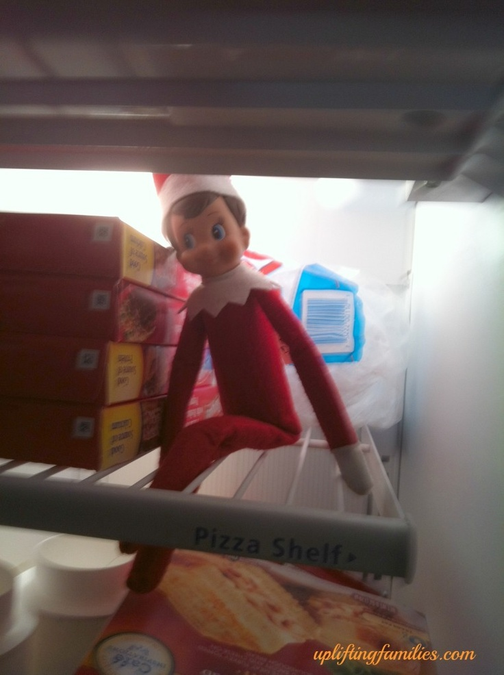 Elf on the Shelf in the Freezer: Shelf Fun, Holidays Christmase Elf, Elf Mischief, Elf Christopher Pop In Kin, Christmas Elf Christopher, Shelf Ideas