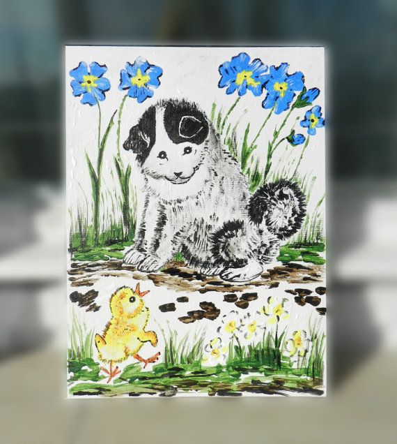 Custom Dog painting Christmas Gift Dog Painting by GabriCollection