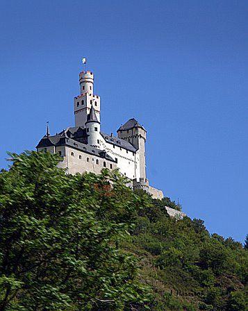 Castles along a Rhine River cruise