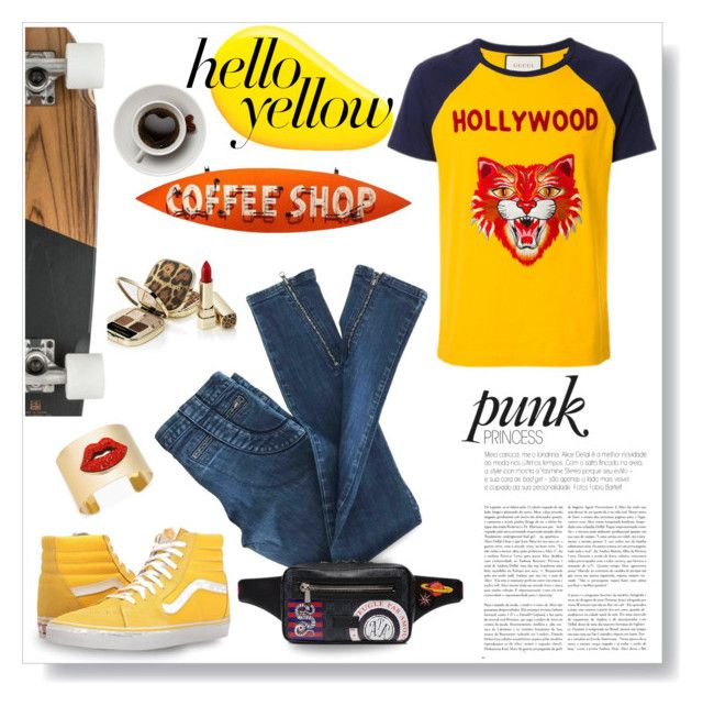 """""""Mellow yellow..."""" by modgirl71 ❤ liked on Polyvore featuring Nails Inc., Gucci, Vans, Thalia Sodi and Coffee Shop"""