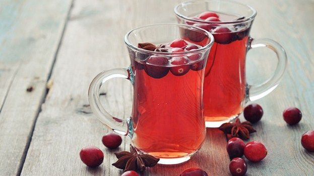 Whole cloves give the kick to this delicious hot cranberry orange wassail.