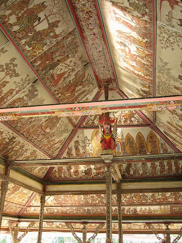 Ornate Ceiling, The Old Court, Klungkung, Bali, Indonesia