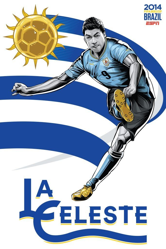 Uruguay Poster (FIFA World Cup 2014 - Brazil) by Cristiano Siqueira