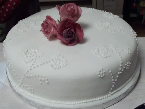 very first attempt at fondant