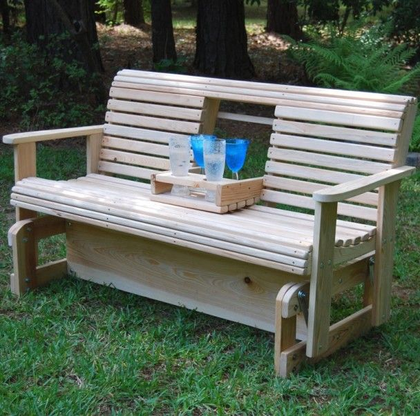 Best 25 porch glider ideas on pinterest woodworking for Bench swing frame plans