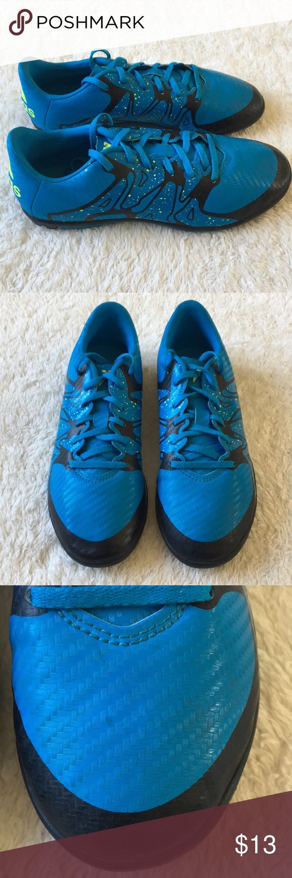 Youth Adidas X 15.3 Soccer Turf Cleats 3.5 Preowned  Youth size 3.5 Some wear marks on the toe area Lots of life left adidas Shoes