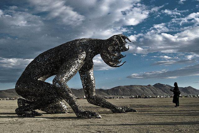 Koilos at Burning Man 2007 Burningman Michael Christian sculpture sculptor surreal outsider art