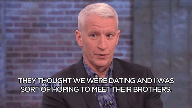 Haha I love Anderson Cooper and his take on the girls that thought they were dating him lol