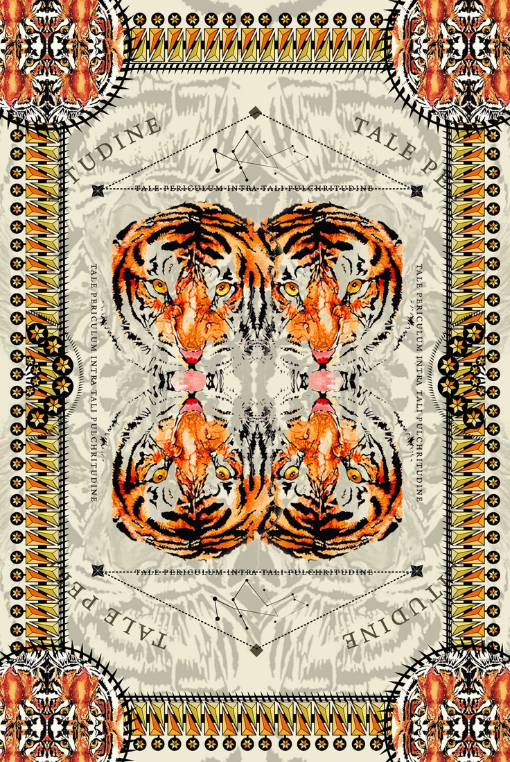 My experiment on a detailed print using the aesthetic of Riccardo Tisci. (No copyright infringement intended) - mixed media. by Nas Abraham