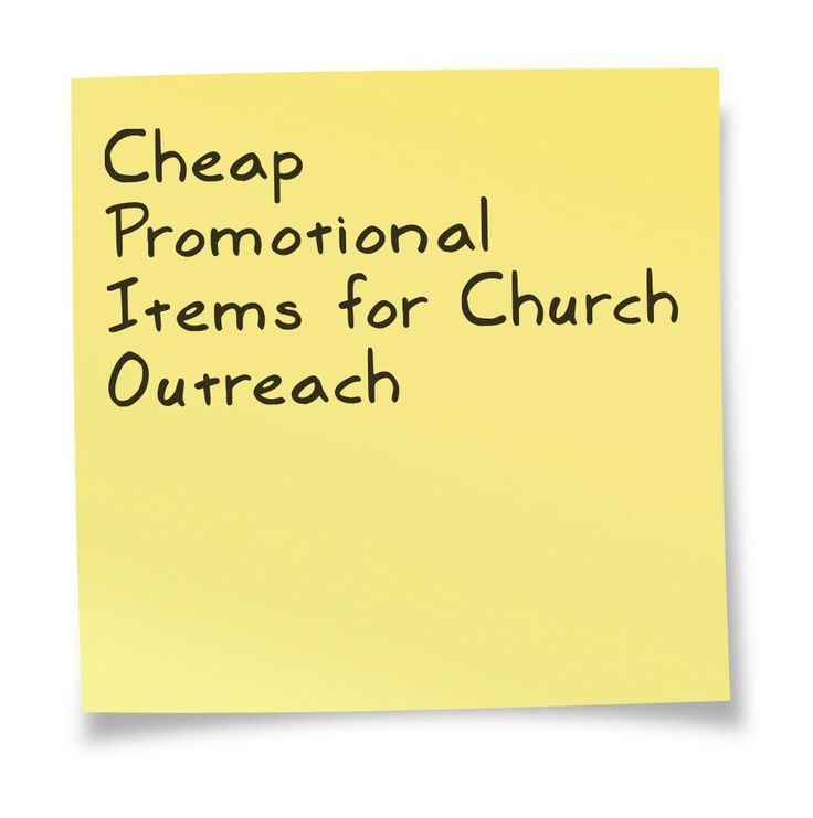 Cheap promotional items for church outreach for Cheap logo