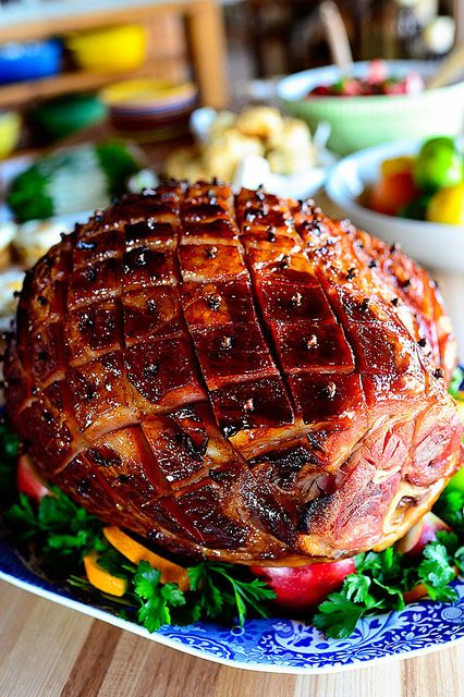 Glazed Easter Ham. Nummy num num.