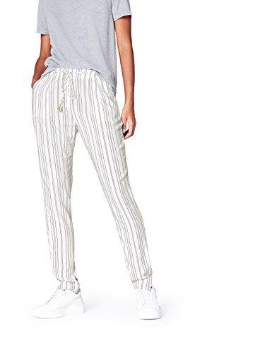 FIND Pantalón Jogger de Rayas con Cordones para Mujer  5493111e2ba