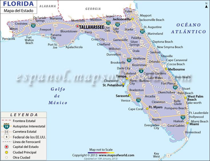 Florida State Map Map Of State Of Florida With Cities