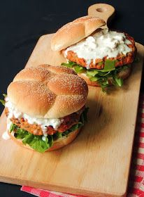 Buffalo chicken wings and burgers collide in this mouth watering Buffalo Chicken Burger, with the bonus of no messy fingers! From www.bobbiskozykitchen.com