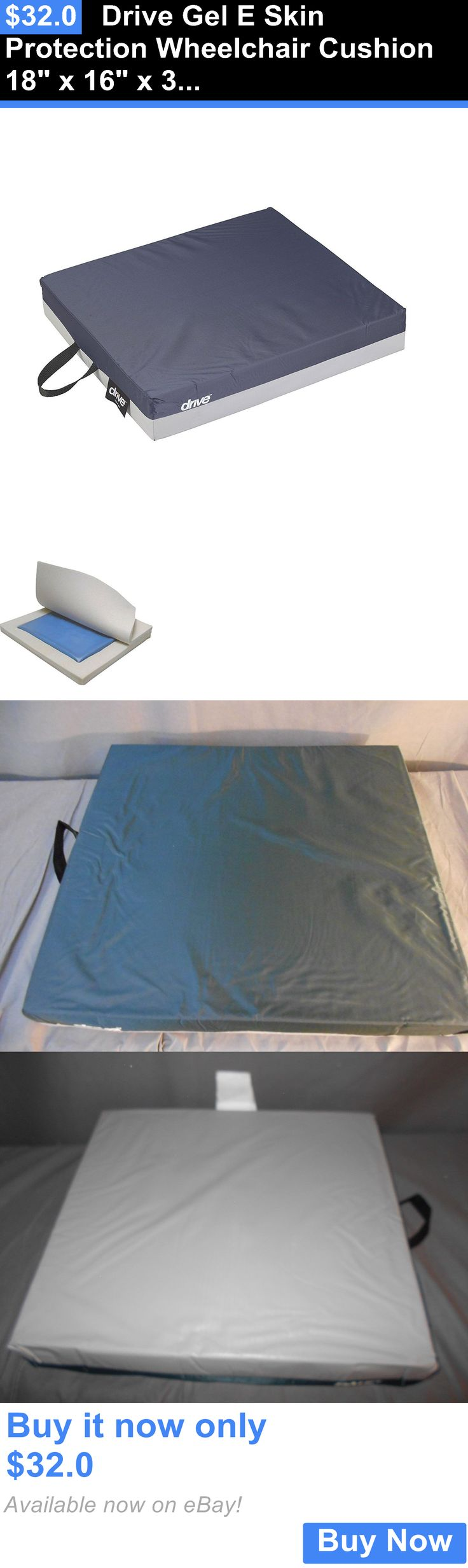 Accessories: Drive Gel E Skin Protection Wheelchair Cushion 18 X 16 X 3 (Open Box) BUY IT NOW ONLY: $32.0