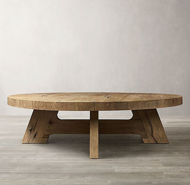 davos oak round coffee table coffee