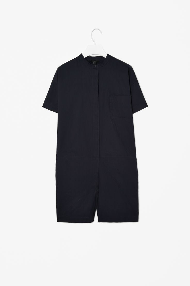 Cotton all-in-one Overall Shorts COS Navy