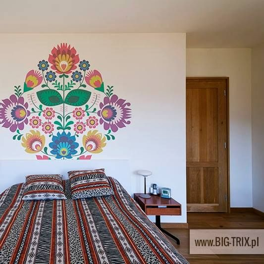 POLISH: Floral folk motif by Big-trix.pl | #folk #ethnic #polish #wallpaper