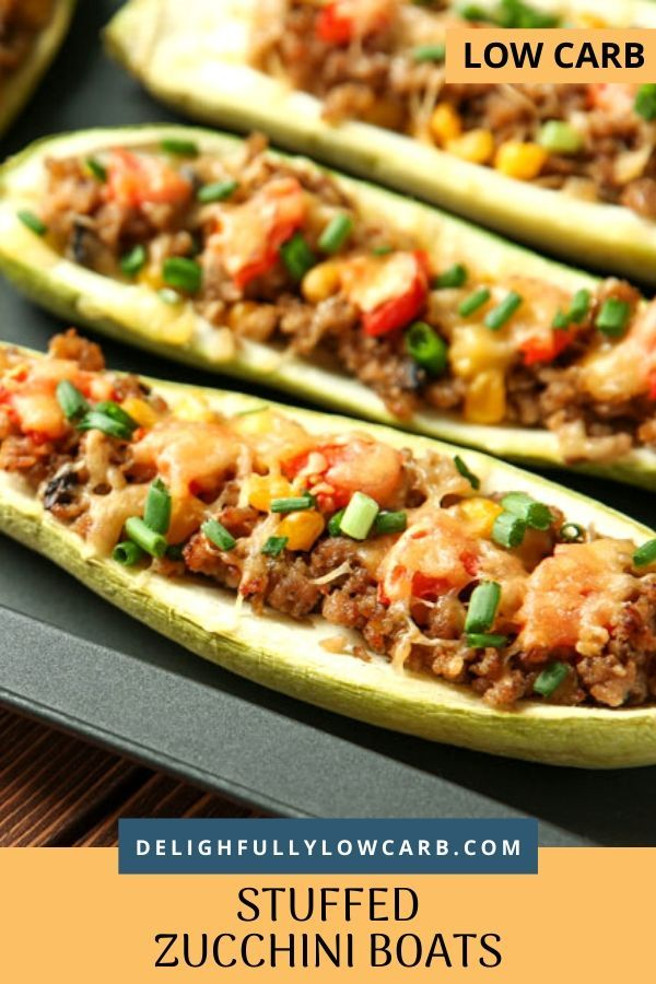 Low Carb Stuffed Zucchini Boats In 2020 Best Beef Recipes Beef Recipes For Dinner Best Low Carb Recipes