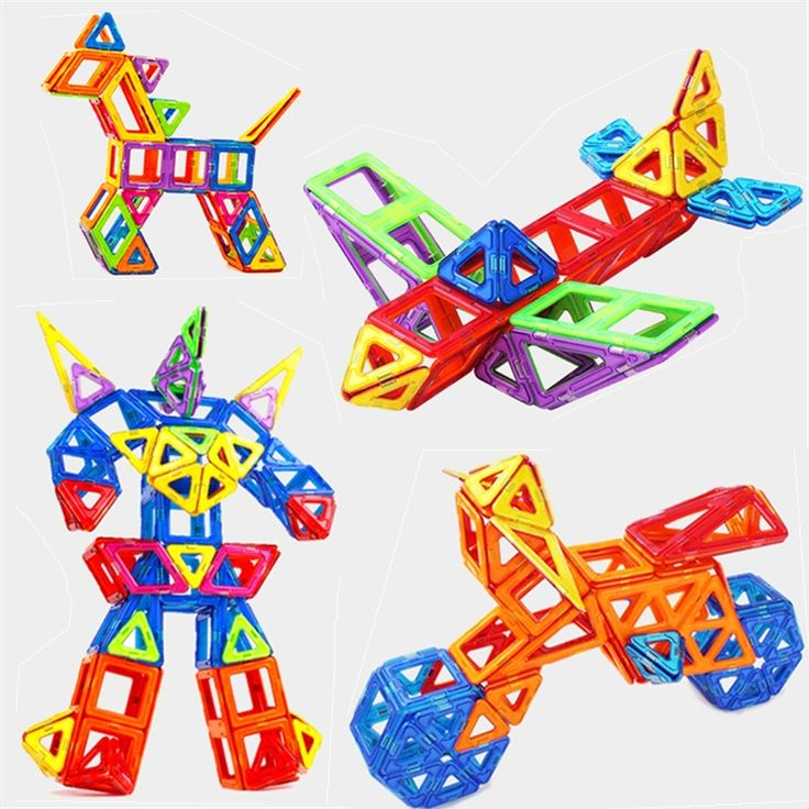 Набор Стандартный Размер Магнитный Конструктор Игрушка Детские Развивающие Игрушки АБС-Пластик Творческие Кирпичи Просветите Магнитного Строительные Блоки #men, #hats, #watches, #belts, #fashion