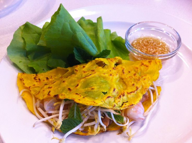 Vietnamese chicken & prawn pancakes.