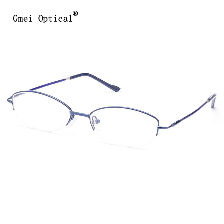 Gmei Optical T9106 Fashion Alloy Semi-Rimless Oval Optical Eyeglasses Frame for Men and Women Eyewear Prescription Spectacles